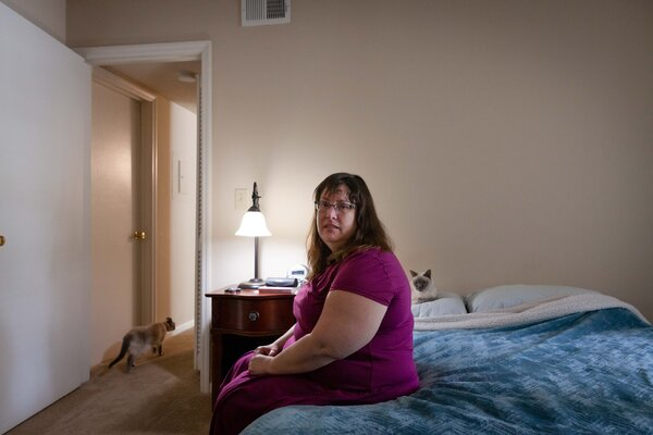 Antonette Worke is awaiting news on whether she will receive assistance for $5,000 in overdue rent in Charleston, S.C.