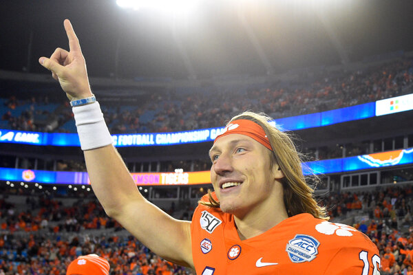 Clemson quarterback Trevor Lawrence went No. 1 over all to the Jacksonville Jaguars.