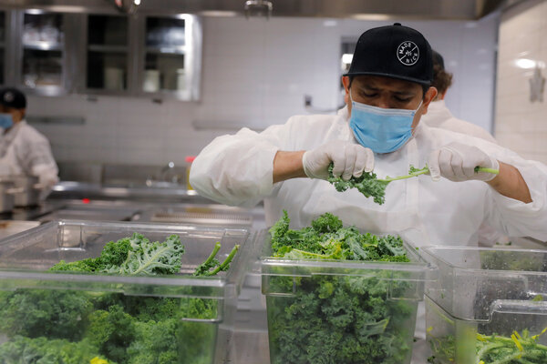 Throughout the pandemic, Eleven Madison Park has been preparing food boxes for needy families. The new plant-based iteration of the restaurant will help sustain efforts like those, said its chef, Daniel Humm.