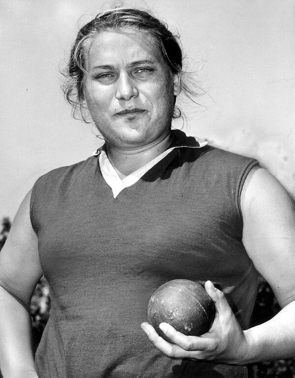 The Soviet athlete Tamara Press in an undated photo. She began to attract international notice in 1958, when she won the gold medal in the discus and the bronze in the shot-put at the European Athletic Championships in Stockholm.