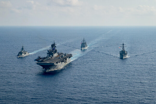 American and Australian warships last year in the South China Sea.