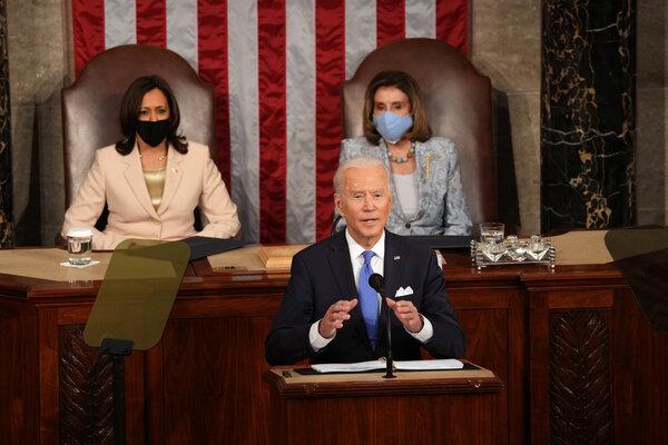 President Biden speaking to Congress last week.