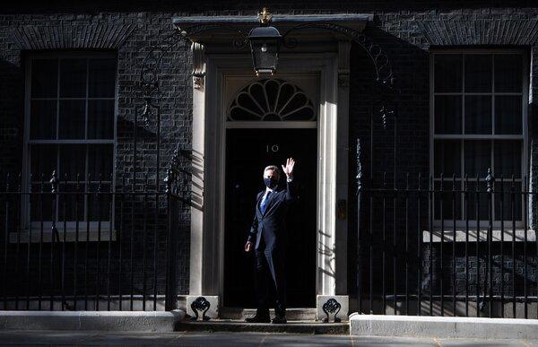 Mr. Blinken outside 10 Downing Street on Tuesday.