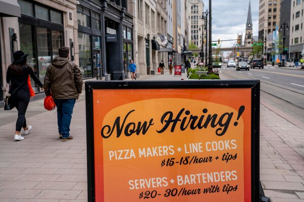 Employers say supplemental unemployment benefits are making it difficult to hire. But some former food-service workers are shifting to warehouse jobs or work-from-home positions.