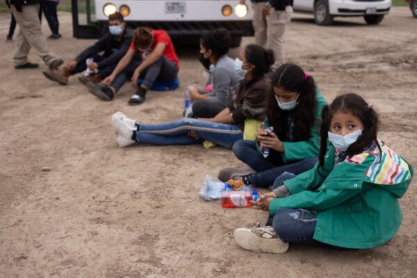 Children waiting for processing by Border Patrol agents on Thursday in La Joya, Texas.