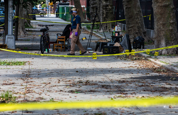New York Police Department investigators investigated a shooting in Brooklyn that killed a 1-year-old boy last summer as gun violence surged during the pandemic.