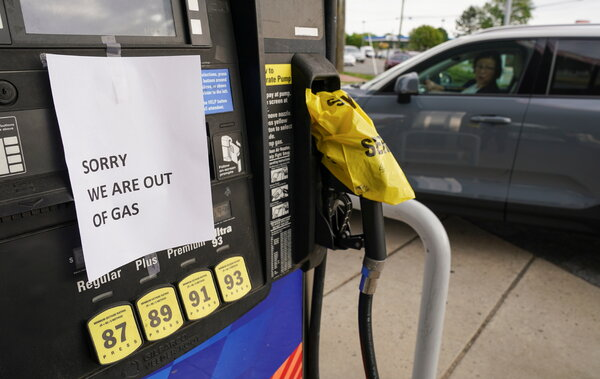 A closed gas pump in Falls Church, Va. Gas prices have risen in several states as drivers rush to fill their tanks.
