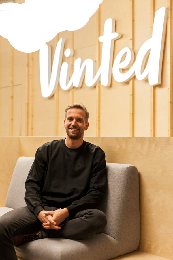Thomas Plantenga, Vinted's chief executive, in 2019. The company, an online marketplace for secondhand clothes, recently raised funding that put its valuation at $4.24 billion.