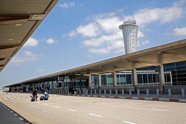 The nearly deserted Ben Gurion airport in Lod, near Tel Aviv, on Thursday.