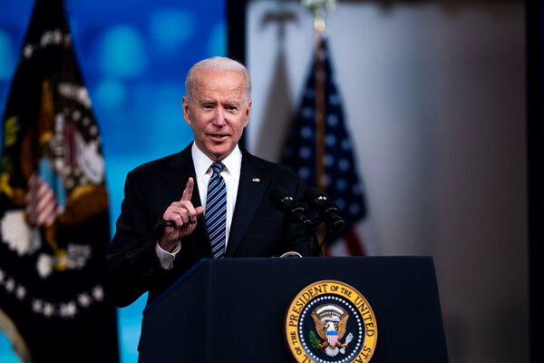 """President Biden condemned the rocket attacks on Israel and said the United States' position was that Jerusalem should be """"a place of peace."""""""