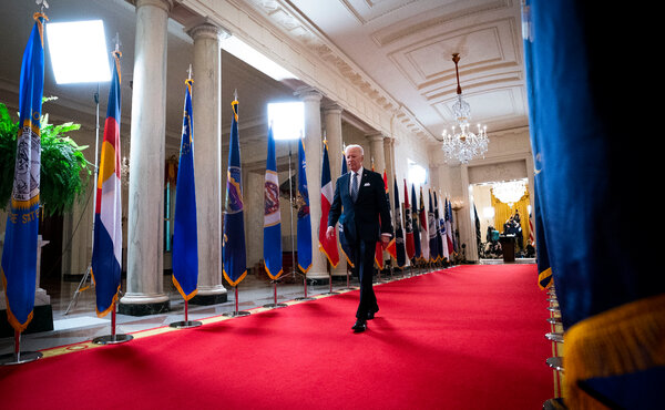 President Biden in March after addressing the nation from the White House.