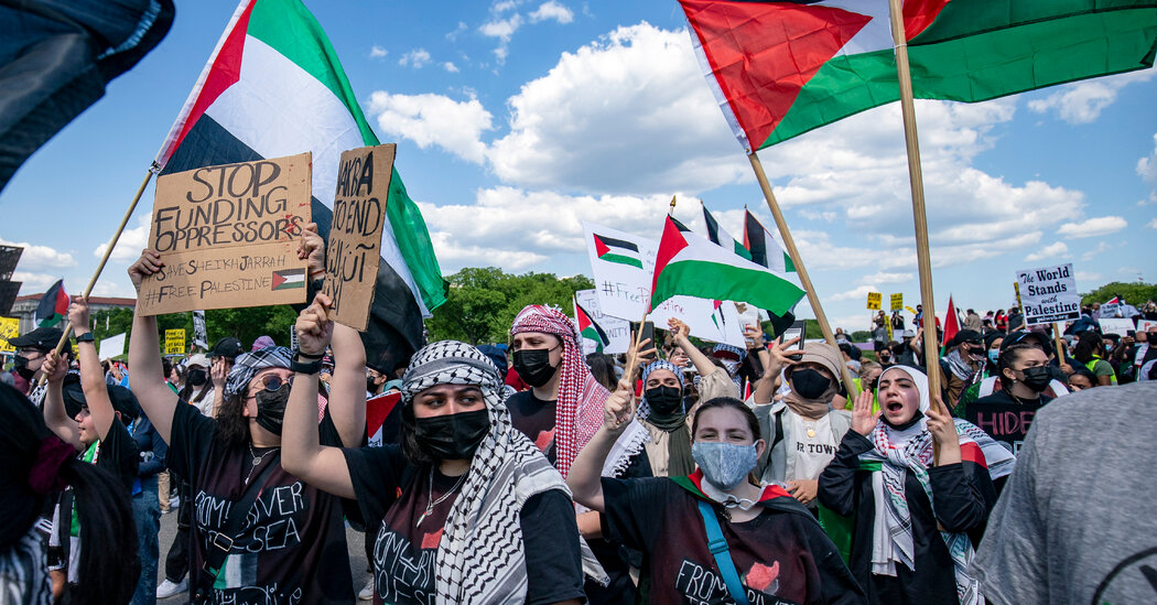 In Washington, Hundreds Take Part in Pro-Palestinian Protests
