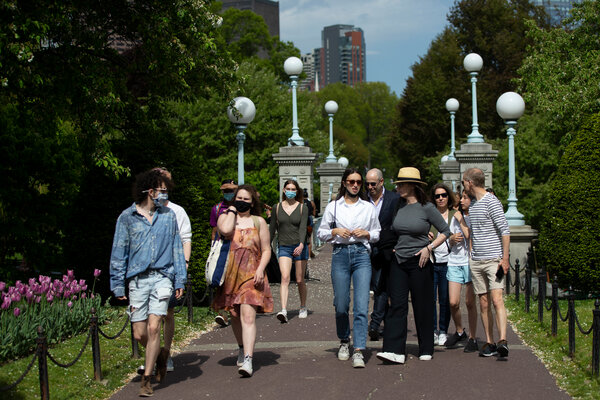 At the Public Garden in Boston on Friday.