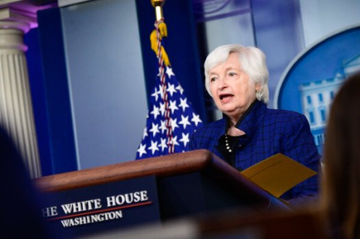"""""""With corporate taxes at a historical low of 1 percent of G.D.P., we believe the corporate sector can contribute to this effort by bearing its fair share,"""" Treasury Secretary Janet Yellen said."""