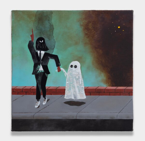 """Kenny Rivero, """"Walk Wit Me,"""" 2021, from the Charles Moffett Gallery, as seen on a trial run of Platform."""