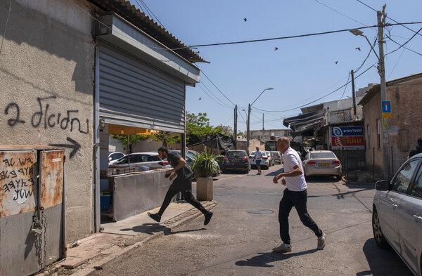 Running for shelter in Tel Aviv last week as Hamas fired rockets from Gaza.