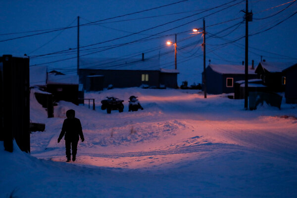 A village in Toksook Bay, Alaska. The programs that will receive funding aim to combat domestic violence in areas where families are geographically isolated.