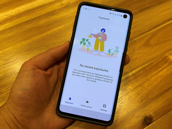 California' s CA Notify app is based on the Apple-Google software. About 65,000 people have used it to notify others of possible exposures to the virus.