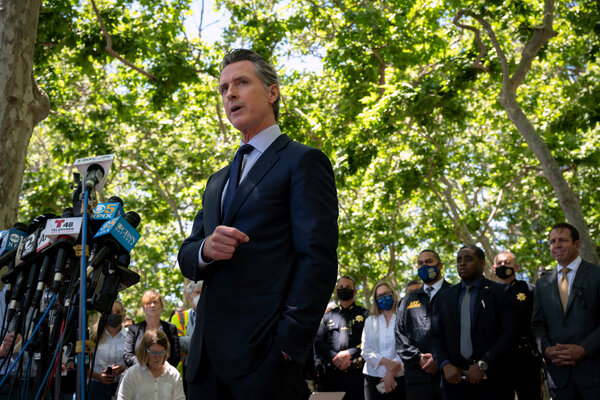 """Gov. Gavin Newsom asked lawmakers to """"move beyond the platitudes and the usual rhetoric"""" that follow mass shootings."""