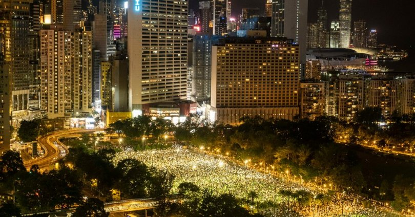 Hong Kong Police Block Tiananmen Events, Citing the Pandemic
