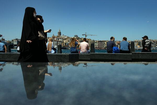 A resort in Istanbul earlier this week.