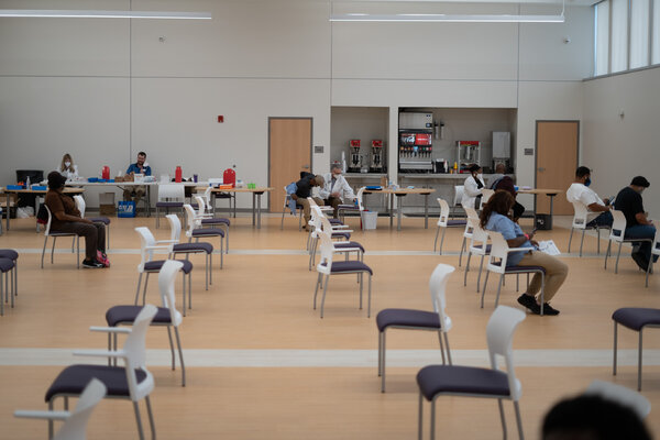 The East Baton Rouge Council on Aging held a vaccine event at the Lotus Center in Baton Rouge, La., in March.