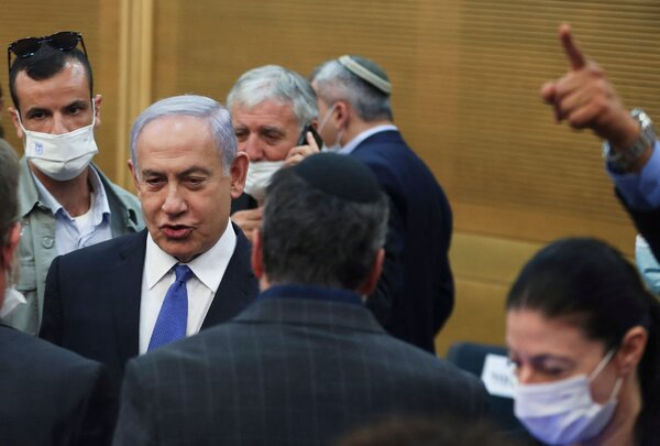 Prime Minister Benjamin Netanyahu in Parliament in Jerusalem on Wednesday.