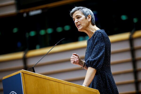"""Margrethe Vestager, the European Union's executive vice president in charge of competition policy, said Facebook's """"vast troves of data"""" on its users enabled it """"to target specific customer groups."""""""