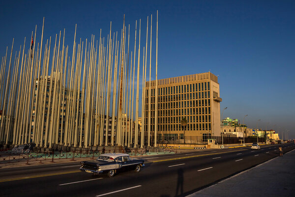 The United States Embassy in Havana. Staff at the embassy suffered unexplained health incidents that many officials believe are attacks.