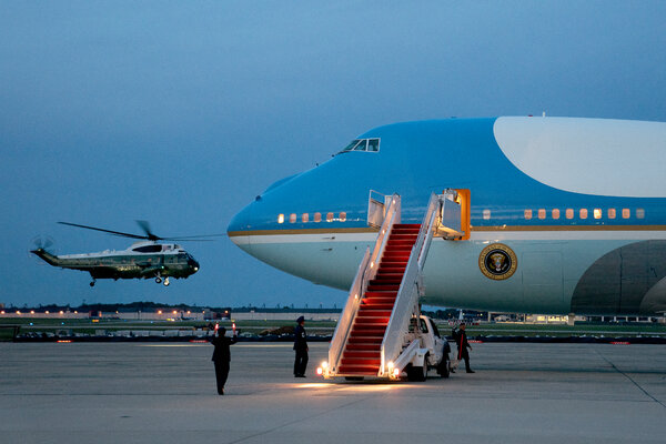 President Biden is set to leave for Europe on Air Force One, but the press plane that accompanied him ran into delays.