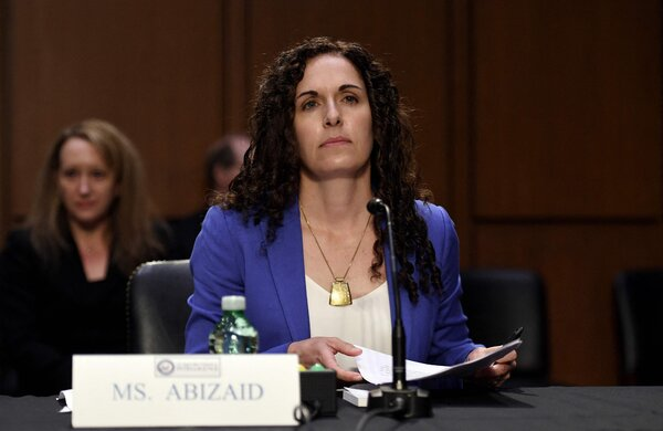 Christine Abizaid appeared before senators on Wednesday for her confirmation hearing to run the National Counterterrorism Center.