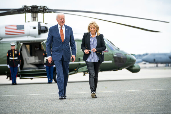 President Biden and Dr. Jill Biden, the first lady, at Dover Air Force Base last week.