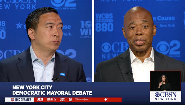 """""""He spent months attacking me for not being a New Yorker,"""" Andrew Yang said of Eric Adams. """"Meanwhile, he was attacking me from New Jersey."""""""