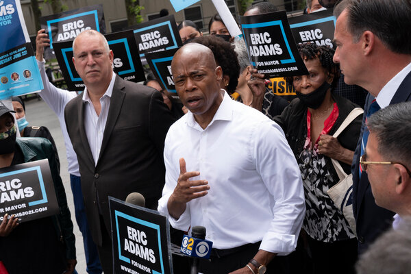Eric Adams, the Brooklyn borough president, had a long career with the police department before moving into politics.