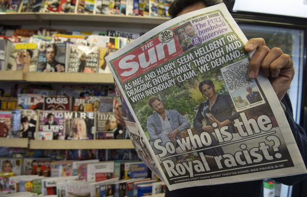 The Sun is Britain's second-most widely read newspaper.