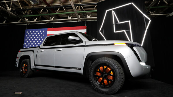 The electric Endurance pickup truck that Lordstown plans to make.