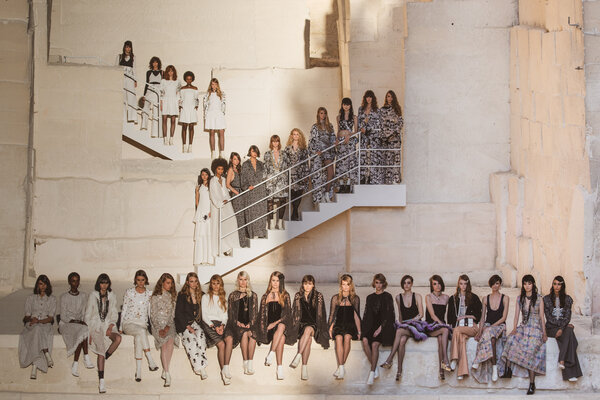 The Chanel 2021 cruise show finale at Les Baux-de-Provence, France.The company's 2020 revenue was .1 billion, down 18 percent from the previous year.