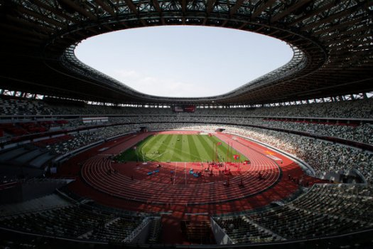 The National Stadium in Tokyo during an Olympic test event in May. Organizers say the Games will open on July 23.