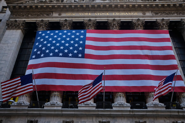 The New York Stock Exchange in March 2020. The early days of the pandemic in the United States rattled the markets.
