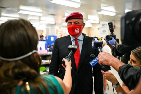 Curtis Sliwa beat Fernando Mateo easily in the Republican mayoral primary to win the party's nomination on Tuesday.