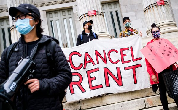 The Biden administration plans to extend the national moratorium on evictions through July, officials said.Activists in Brooklyn called in May for an extension of New York State's eviction moratorium.