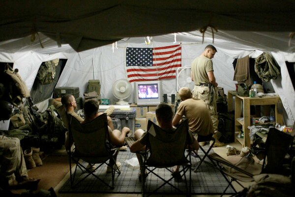 American troops in their quarters at Bagram Air Base in August 2002, when the war was not yet a year old.