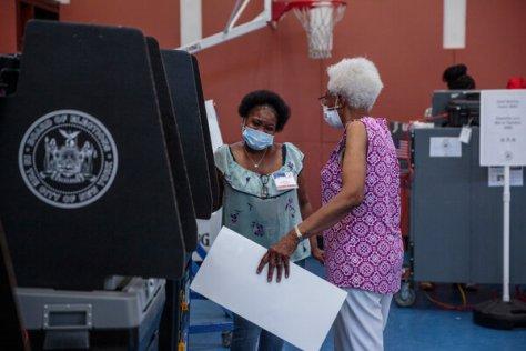 Early voting on June 20 in Bushwick, Brooklyn.