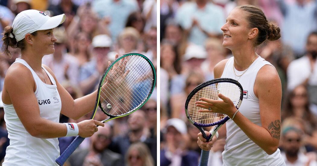 It's Ashleigh Barty vs. Karolina Pliskova in Wimbledon Final
