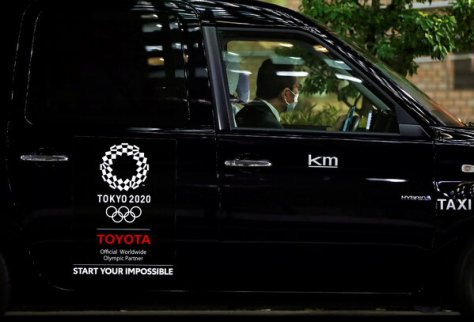 As part of Toyota's sponsorship of the Olympic Games, much of Tokyo's taxi fleet was replaced with a sleek, new Toyota model.