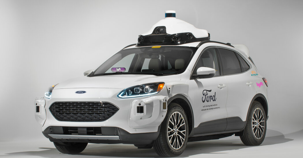 Lyft will team up with Ford and a self-driving car start-up to offer rides in Miami.