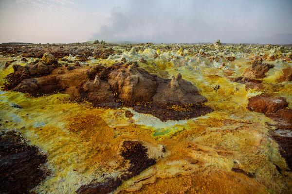 Sulfur springs in Ethiopia's northern Afar region.