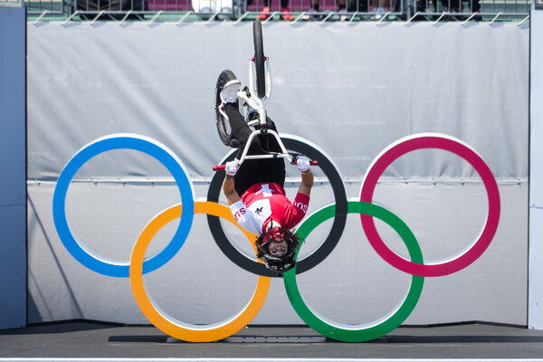 Medals were awarded on Sunday in the men's and women's BMX freestyle events.