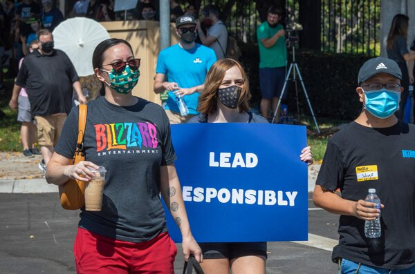 More than 1,500 Activision Blizzard workers walked out from their jobs last week.