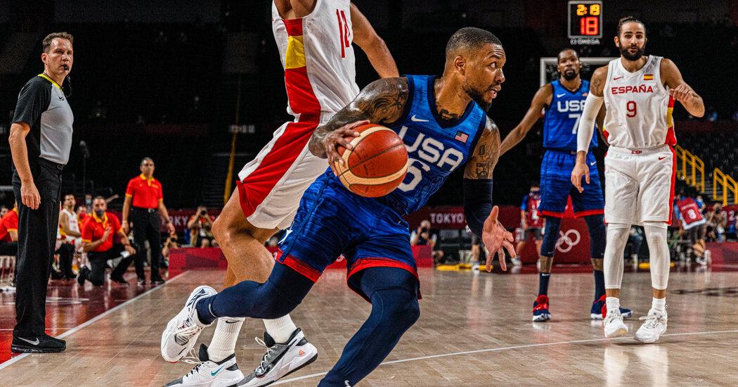 U.S. Men's Basketball Beats Spain in Olympics Quarterfinals